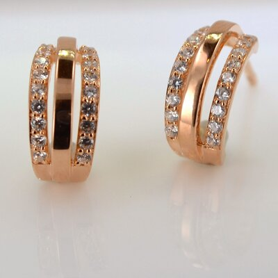 Fashion Forward Cubic Zirconia Huggie Earring