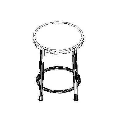 Shain Height Adjustable Stool with Swivel