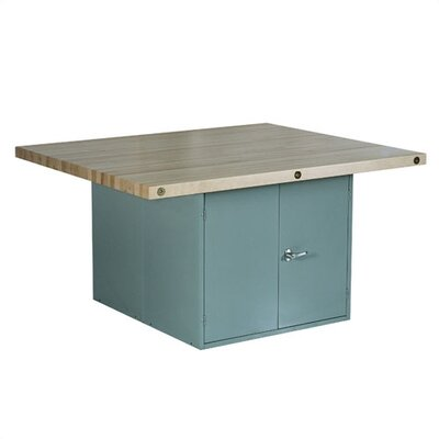 Shain Four Station Workbench with Two Locker Cabinet