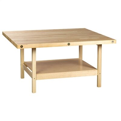 Shain Four Station Workbench with Shelf