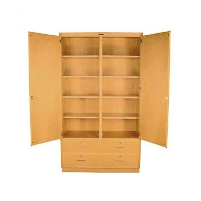 Shain Tall Storage Cabinet with Drawers