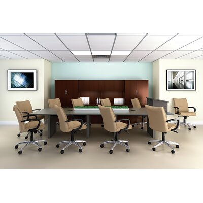 "ABCO 144"" Wide Rectangle Top Conference Table with Slab Base"
