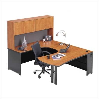 ABCO Endure U-Shape Right Configuration Executive Workstation with Hutch