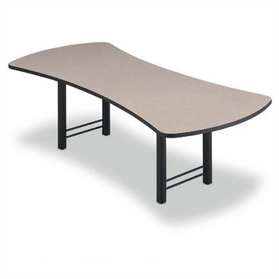 "ABCO 144"" Wide Presentation Top Conference Table with Slab Base"