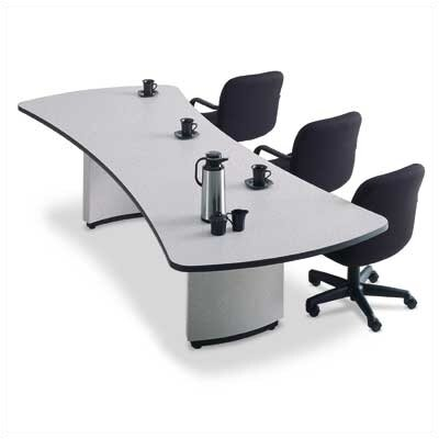 "ABCO 144"" Wide Presentation Top Conference Table with Curved Plinth Base"