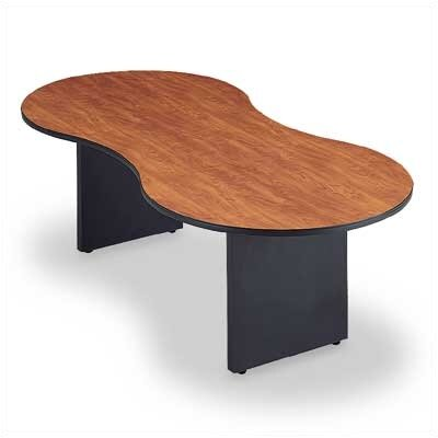 "ABCO 120"" Wide Break Out Top Conference Table with Curved Plinth Base"