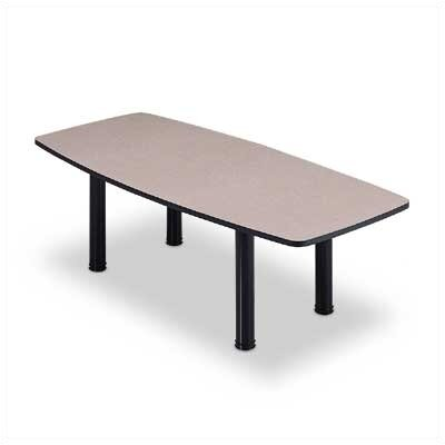 "ABCO 96"" Wide Boat Shape Top Conference Table with H Base"