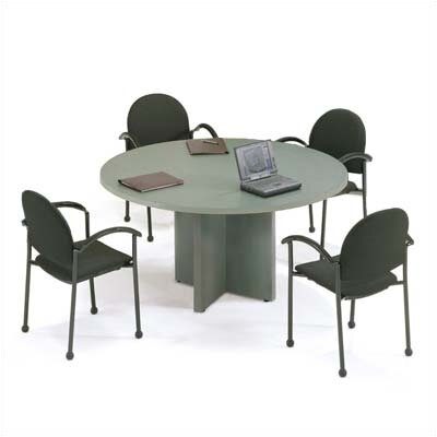 "ABCO 42"" Diameter Bull Nose Round Top Gathering Table with X-Base"