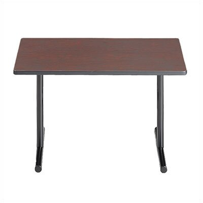 "ABCO Smart Tables: 18"" x 96"" Rectangle Thermofused Melamine Conference Table With Fixed Bases and 90 Degree Corner Wedges"