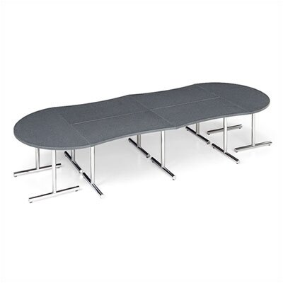 "ABCO Smart Tables: 30"" x 60"" Concave Wave Conference Kit"