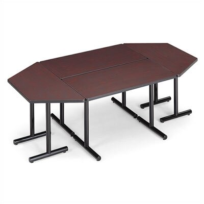 "ABCO Smart Tables: 24"" x 84"" Thermofused Melamine Rectangle and Trapezoid Conference Table"