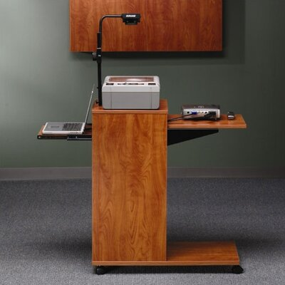 ABCO Mobile Presentation Stand with Optional Wall Cabinet and Projector Screen