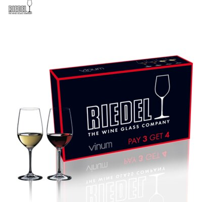 Riedel Pay 6 Get 8 Vinum Chardonnay Wine Glass Set