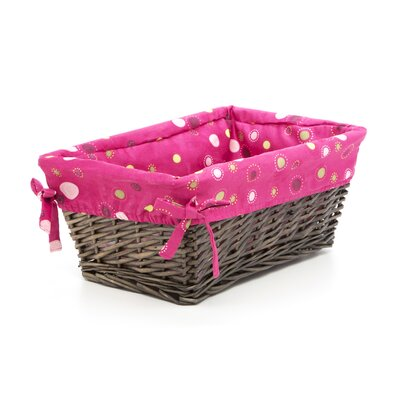 Lambs & Ivy Raspberry Swirl Basket with Liner