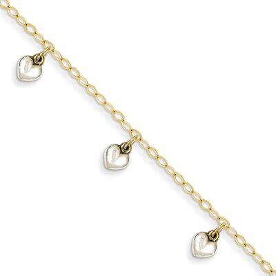 Dangle Heart Baby Link Bracelet