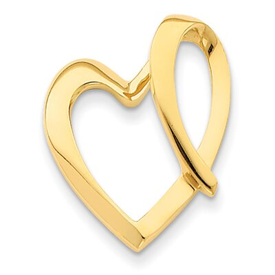 14k Yellow Gold Heart Slide Pendant