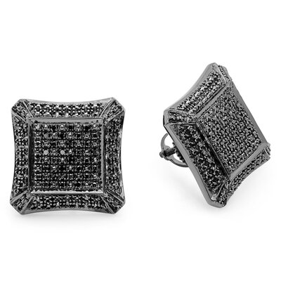 Men's Round Cut Diamond Stud Earrings