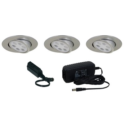 Jesco Lighting Slim Disk LED 3 Light Adjustable Round Kit