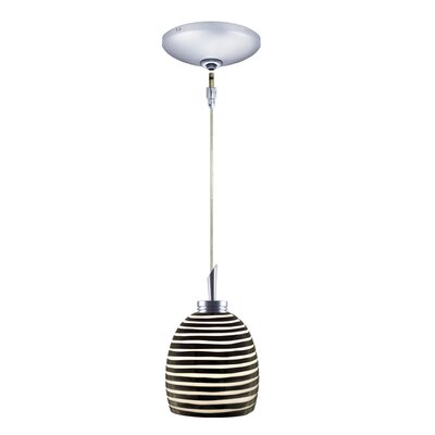 Jesco Lighting Zeb 1 Light Pendant and Canopy Kit