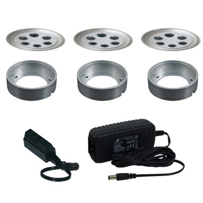 Jesco Lighting 3 Light Fixed Round Slim Disk Kit