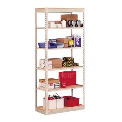 "Penco Single Rivet 84"" H 5 Shelf Shelving Unit Add-on"