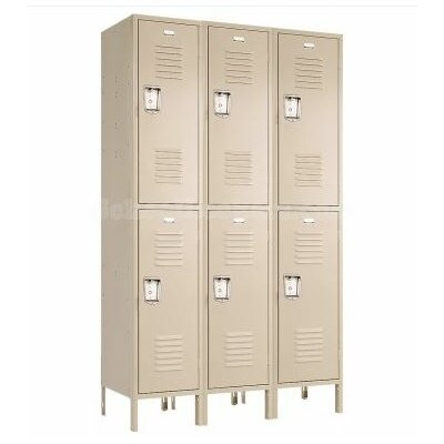 Penco Recessed Double Tier 3 Wide Locker (Unassembled)