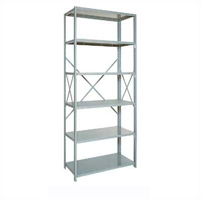 "Penco Open Clipper Basic 87"" H x 5 Shelf Shelving Unit Starter"