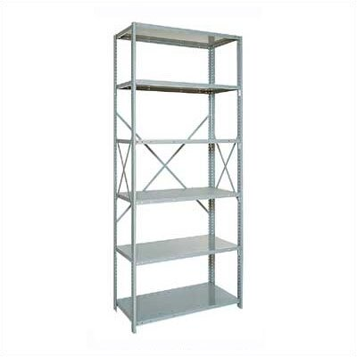 "Penco Open Clipper Basic 87"" H 5 Shelf Shelving Unit Starter"