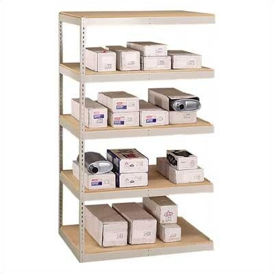 "Penco 48"" & 60"" Wide Double Rivet Units (with Center Support) - 4 Shelf Add-On Unit"