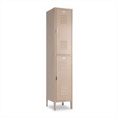 Penco Vanguard Double Tier 1 Wide Locker with Recessed Handle (Unassembled)