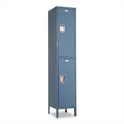 Penco Guardian Medallion Lockers - Double Tier - 1-Wide (Unassembled)