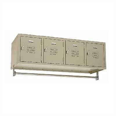 Penco Vanguard Unit Packaged Lockers - Four-Wide Wall Mount (Unassembled)