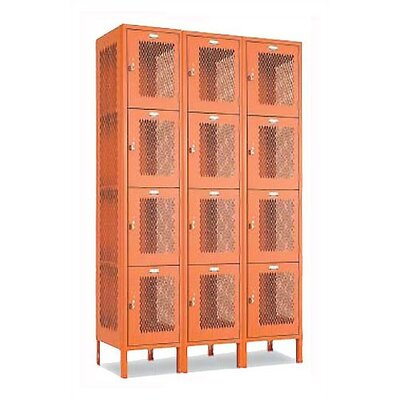 Penco Invincible II Lockers - Four Tier - 3-Section (Assembled)