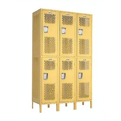 Penco Invincible II Double Tier 3 Wide Locker (Assembled)