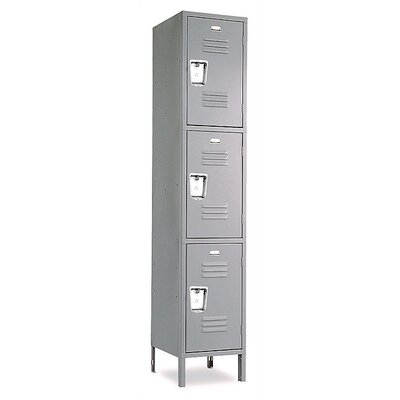 Penco Vanguard Lockers - Triple Tier - 1 Section (Unassembled) - Recessed Handle