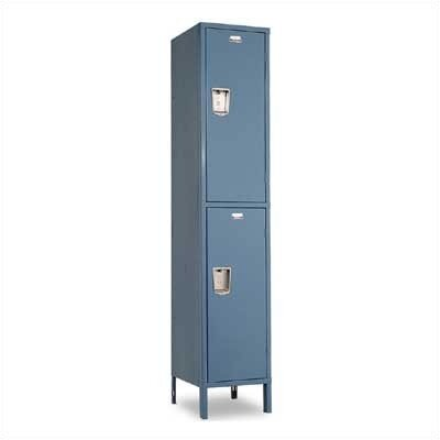 Penco Vanguard Lockers - Double Tier - 1 Section (Assembled) - Recessed Handle