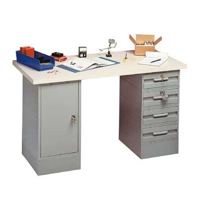 Penco Modular Work Benches - Tuff Top, Composition Core, 2 Cabinets