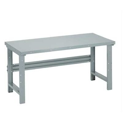 Penco Open Work Bench - Tuff Top, Composition Core, Adjustable Height with Shelf