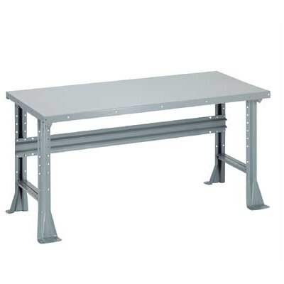 Penco Open Work Bench - Tuff Top, Composition Core, Fixed Height with Shelf