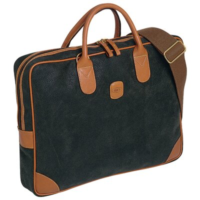 Bric's Life Slim Attache Bag in Olive