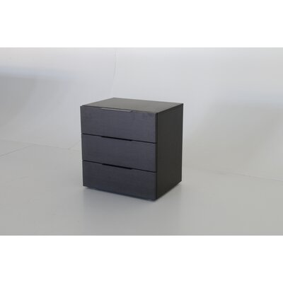 Pianca USA Spazio 3 Drawer Nightstand