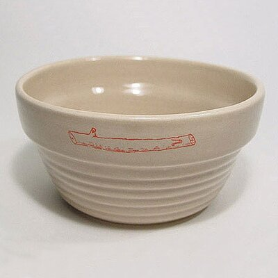 George SF Stick Logo Ridged Dog Bowl
