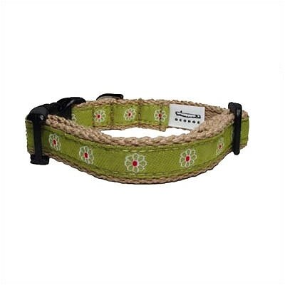 George SF Flower Cotton Tiny Dog Collar