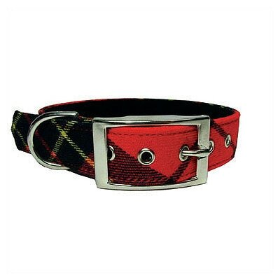 George SF Red Plaid Tiny Dog Collar
