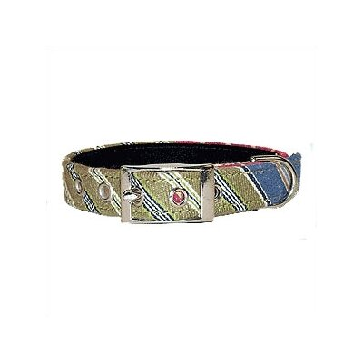 George SF Oxford Stripe Cotton Dog Collar