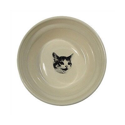 George SF Ridged Happy Cat Bowl