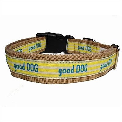 "George SF ""Good Dog"" Cotton/Nylon Dog Collar"