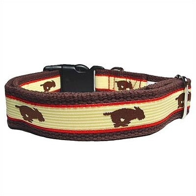 George SF Running Dog Cotton Dog Collar