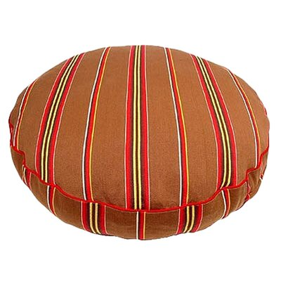George SF Brown Ticking Stripe Round Dog Pillow