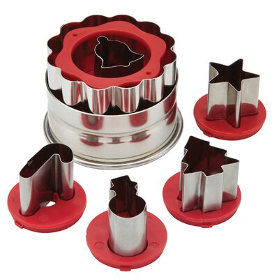 Cake Boss Holiday Linzer Cookie Cutter Set
